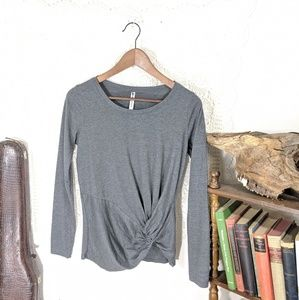 Fabletics grey long sleeve tee